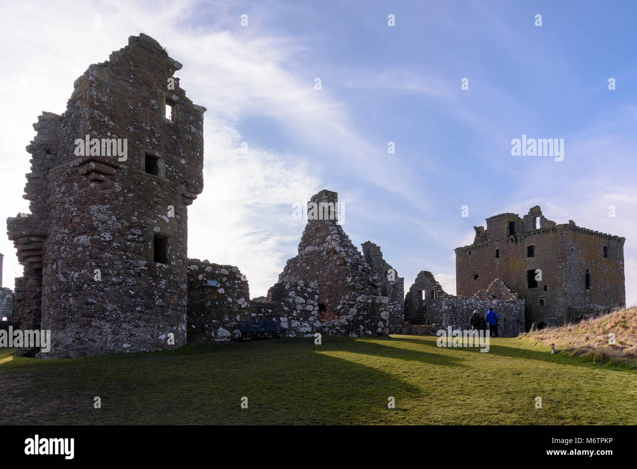 Dunnottar Castle. Ruined fortress near Stonehaven Aberdeenshire. - Stock Image