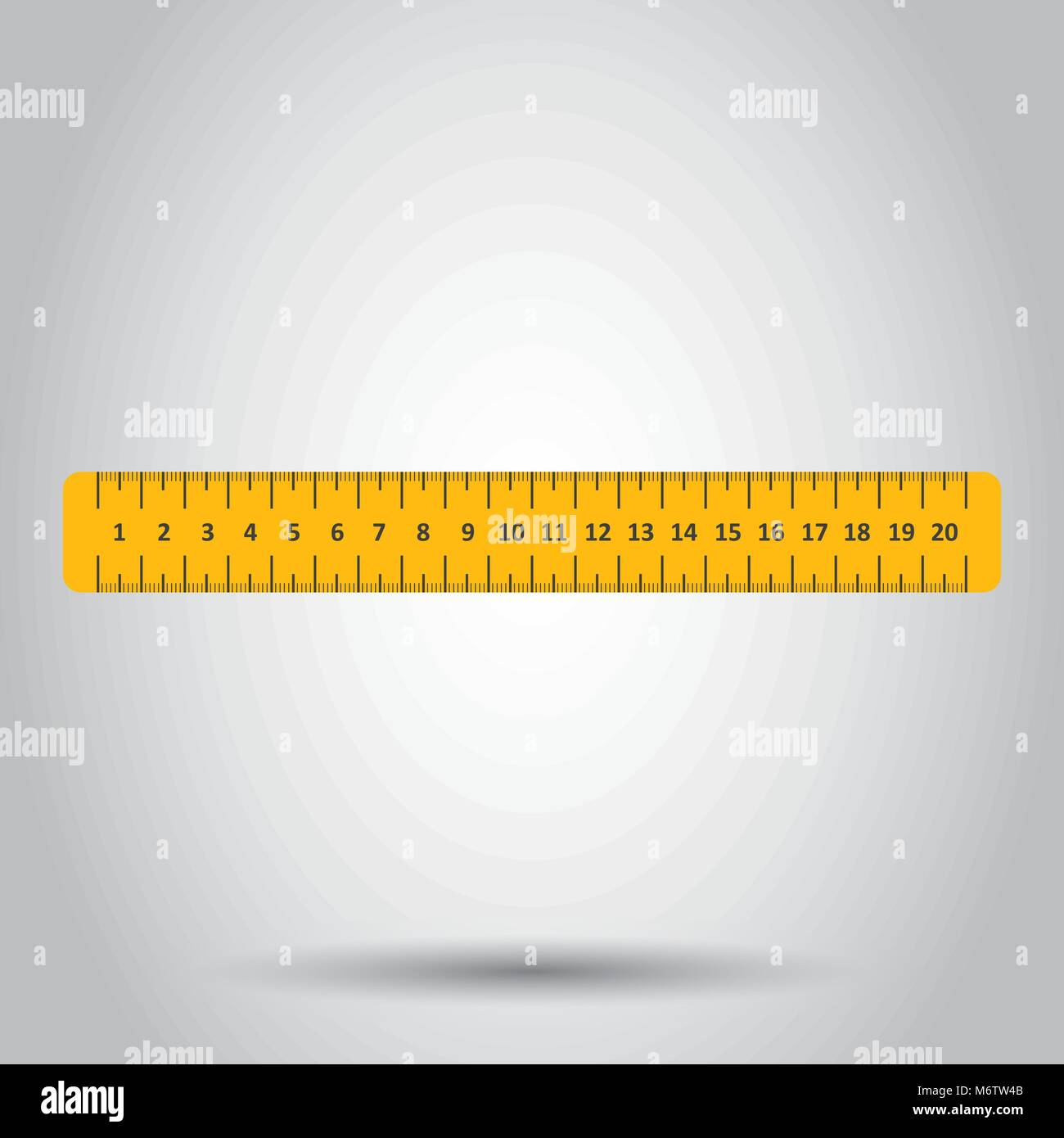 Yellow ruler. Instrument of measurement vector illustration. - Stock Vector
