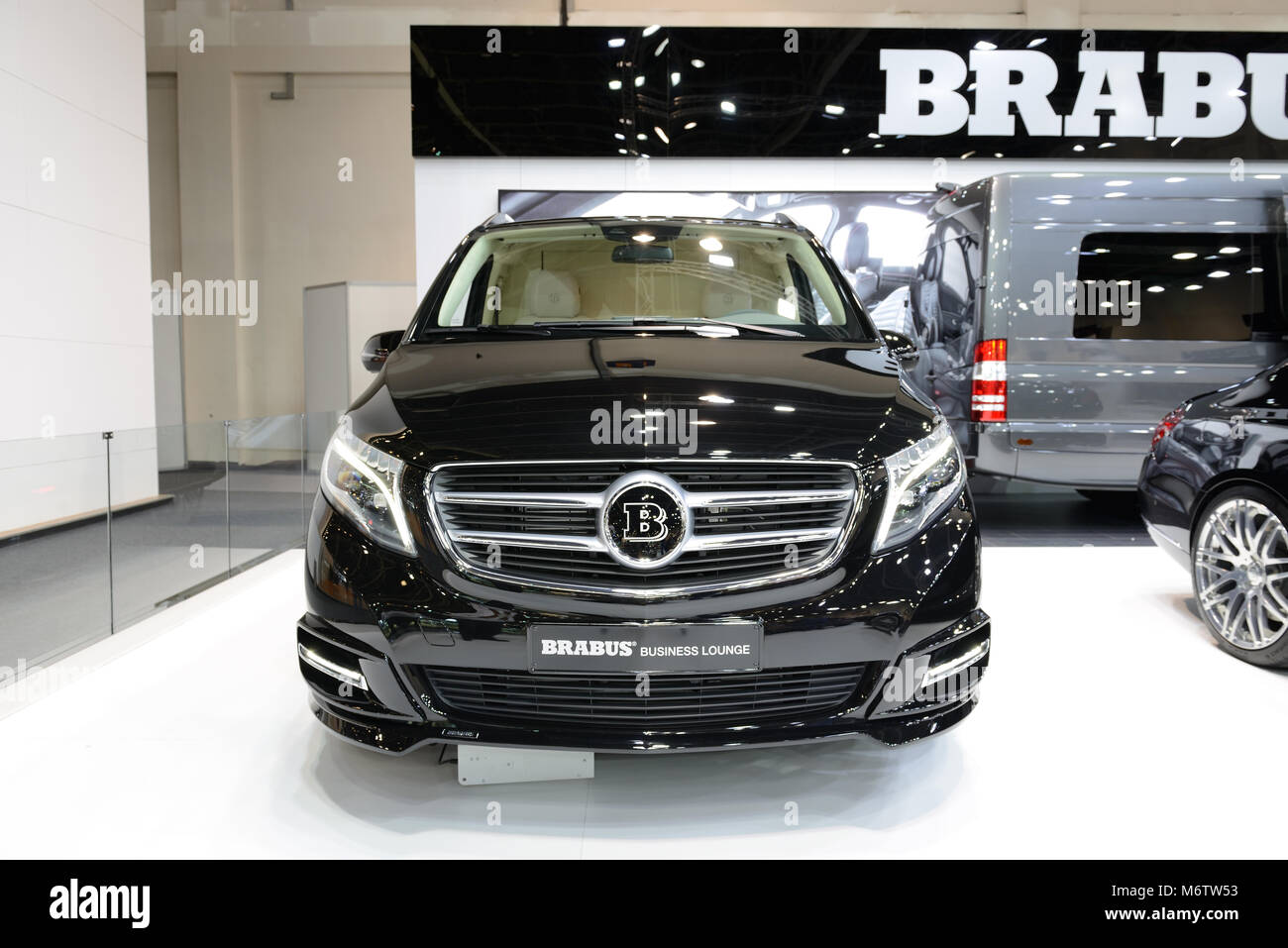 DUBAI, UAE   NOVEMBER 18: The Mercedes Benz Brabus V Class Van Is On Dubai  Motor Show 2017 On November 18, 2017