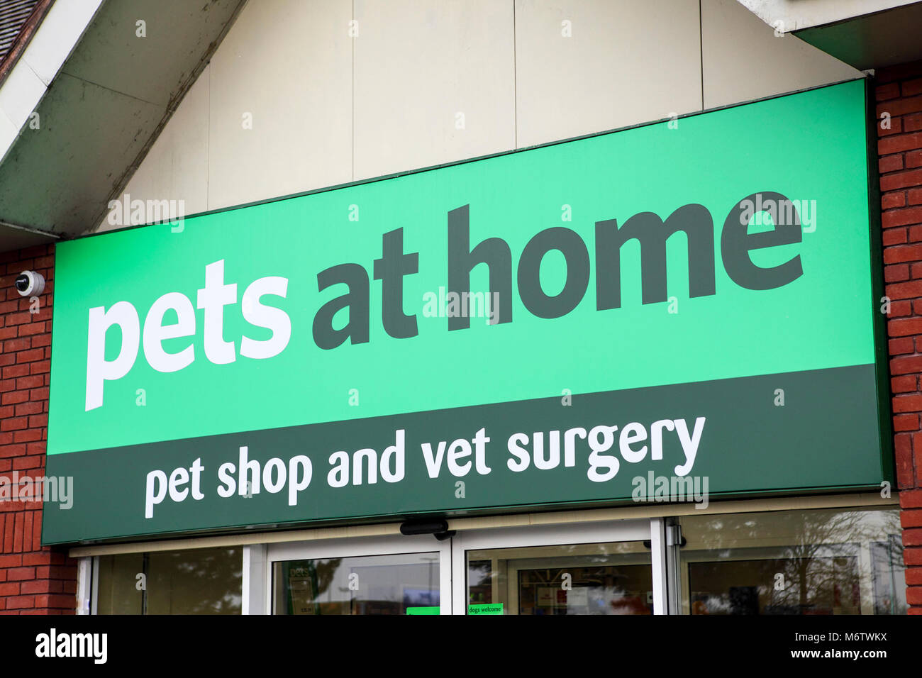 Pets at Home retail outlet, viewed here at their business in Meole Brace Retail Park. - Stock Image
