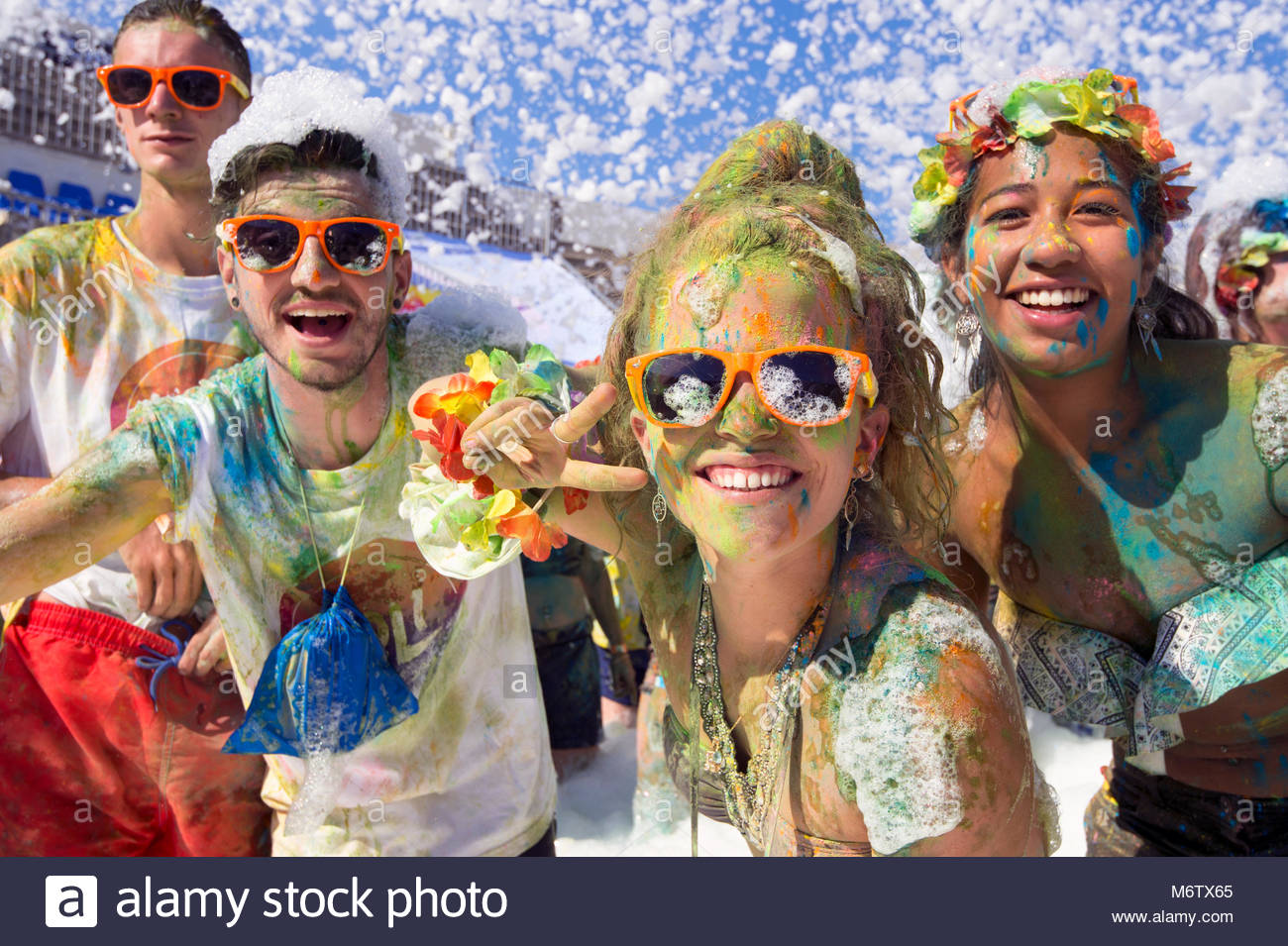 France, Occitanie, Gard, Grau du Roi. holi festival dans les arènes - Stock Image