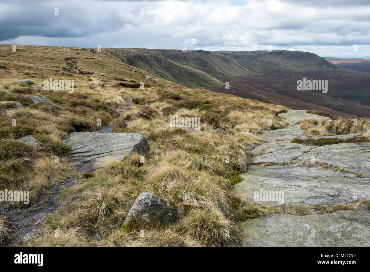 Moors landscape. Seal Edge, Kinder Scout, Derbyshire, Peak District National Park, England, UK - Stock Image