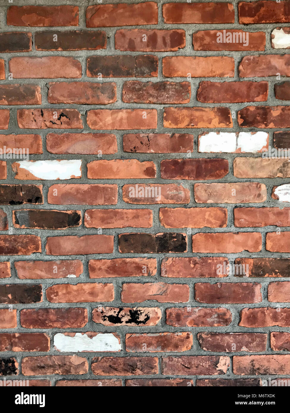 Painted Red Cinder Block Wall High Resolution Stock Photography And Images Alamy
