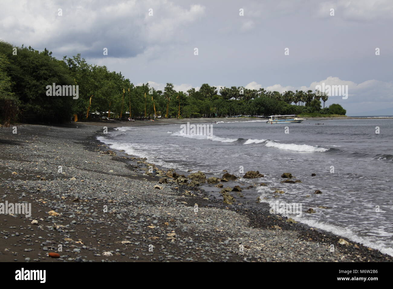 Beautiful quiet beaches in the northwest of Bali - Stock Image
