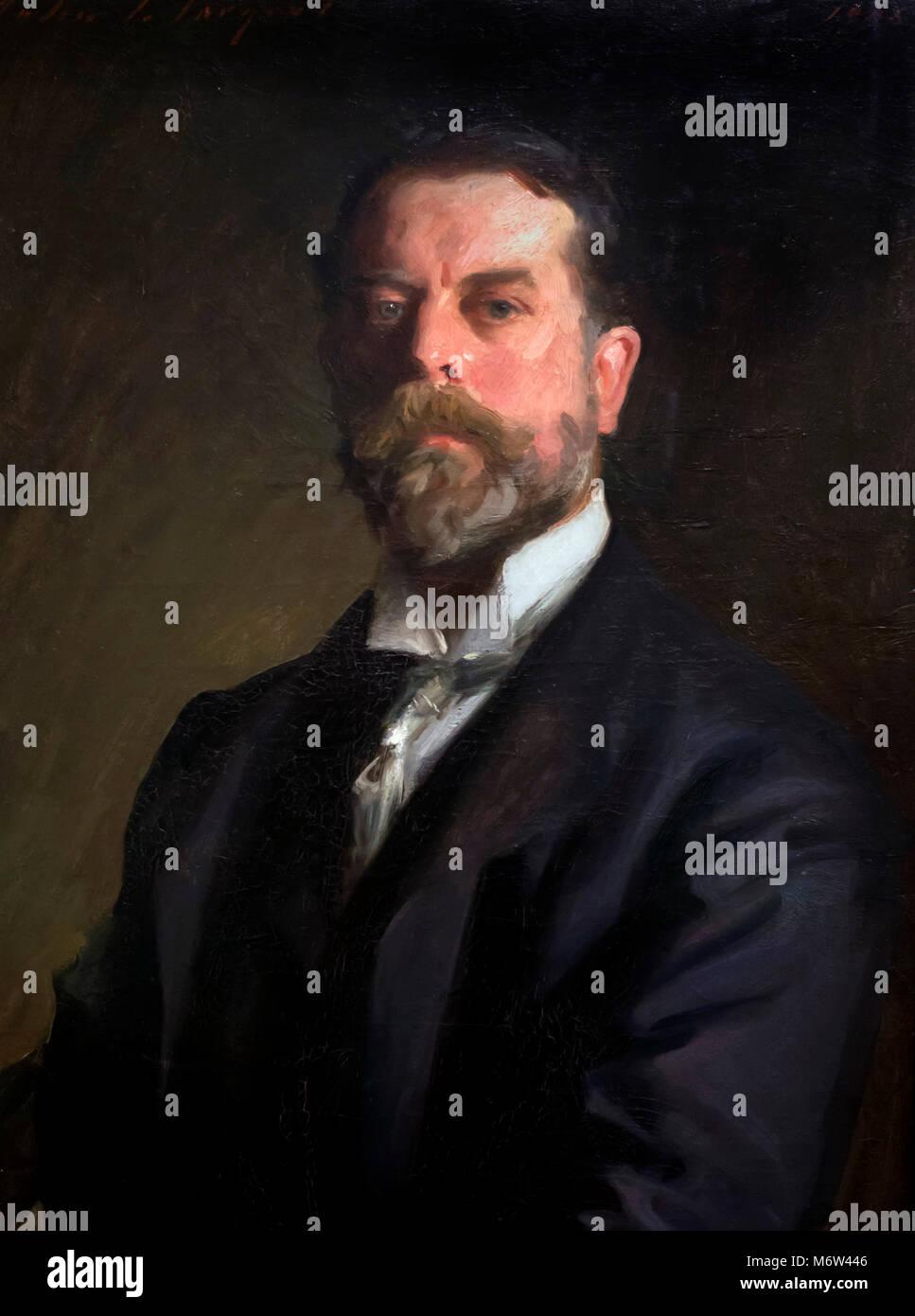 John Singer Sargent (1856-1925), self -portrait, oil on canvas, 1906 - Stock Image