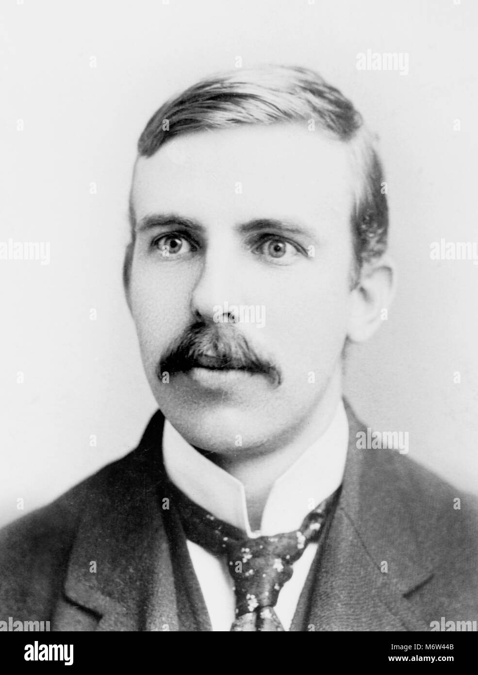 Sir Ernest Rutherford. Portrait of Ernest Rutherford, 1st Baron Rutherford of Nelson (1871-1937). Photograph from - Stock Image