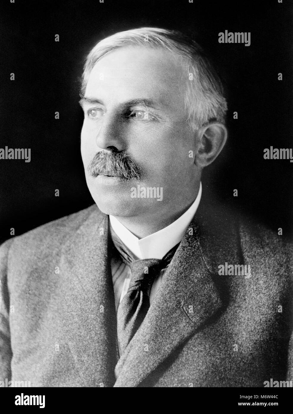 Sir Ernest Rutherford. Portrait of Ernest Rutherford, 1st Baron Rutherford of Nelson (1871-1937). Undated photograph Stock Photo