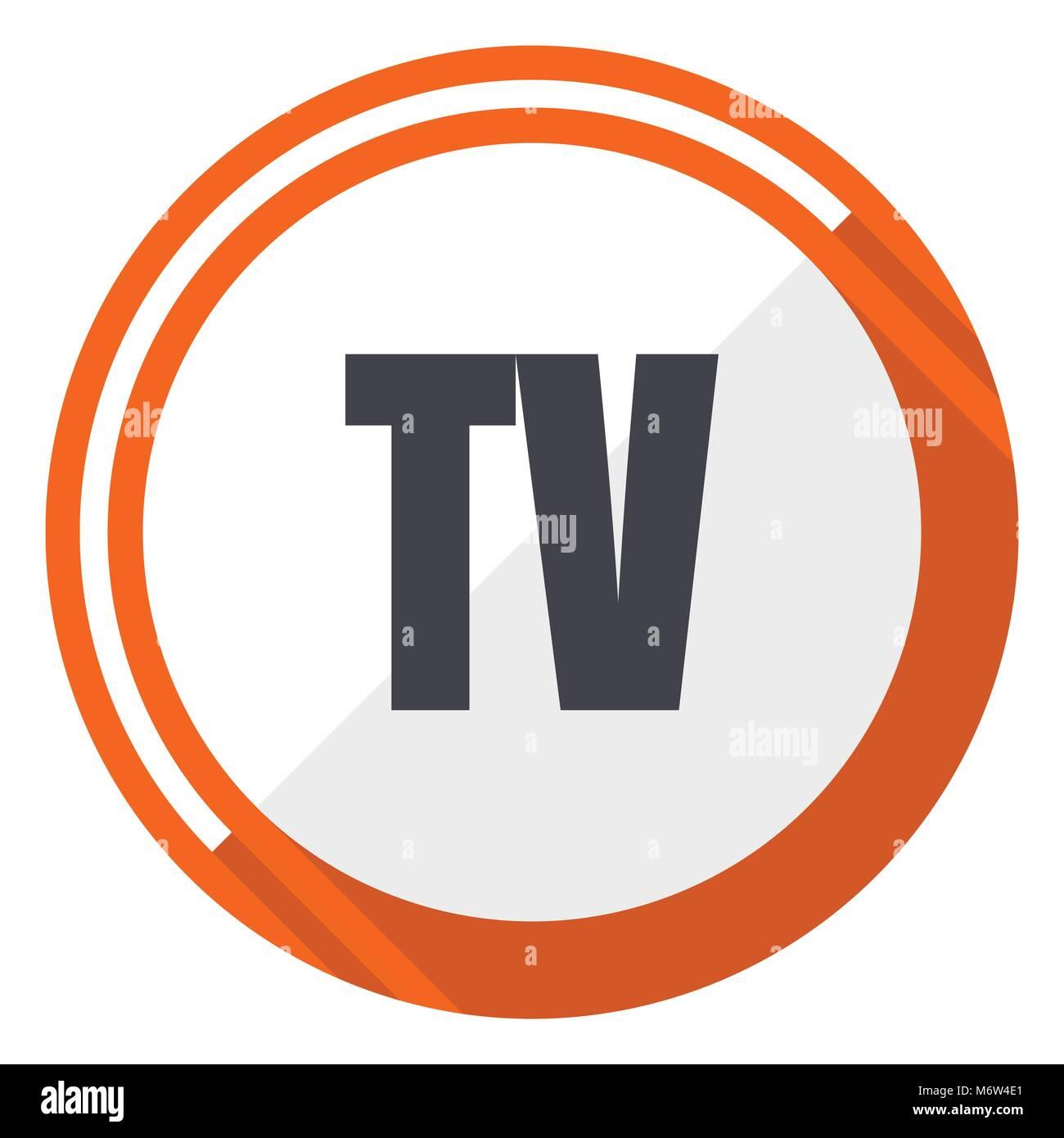 Tv vector icon - Stock Image