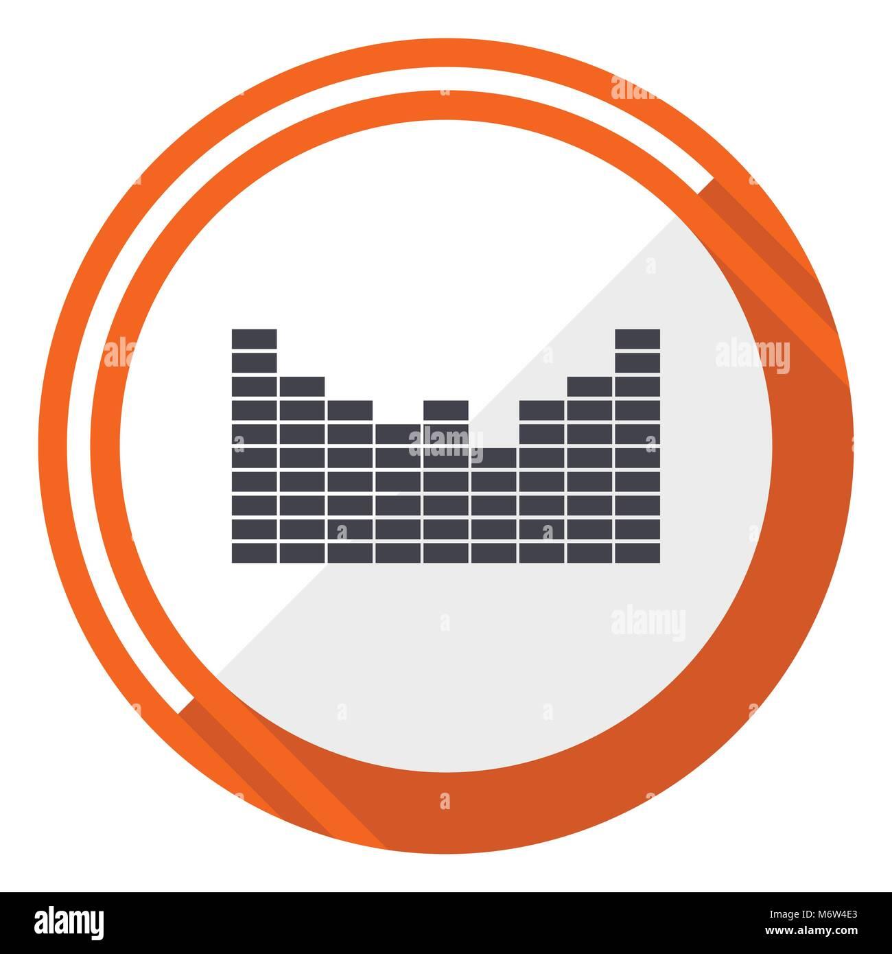 Sound vector icon - Stock Image