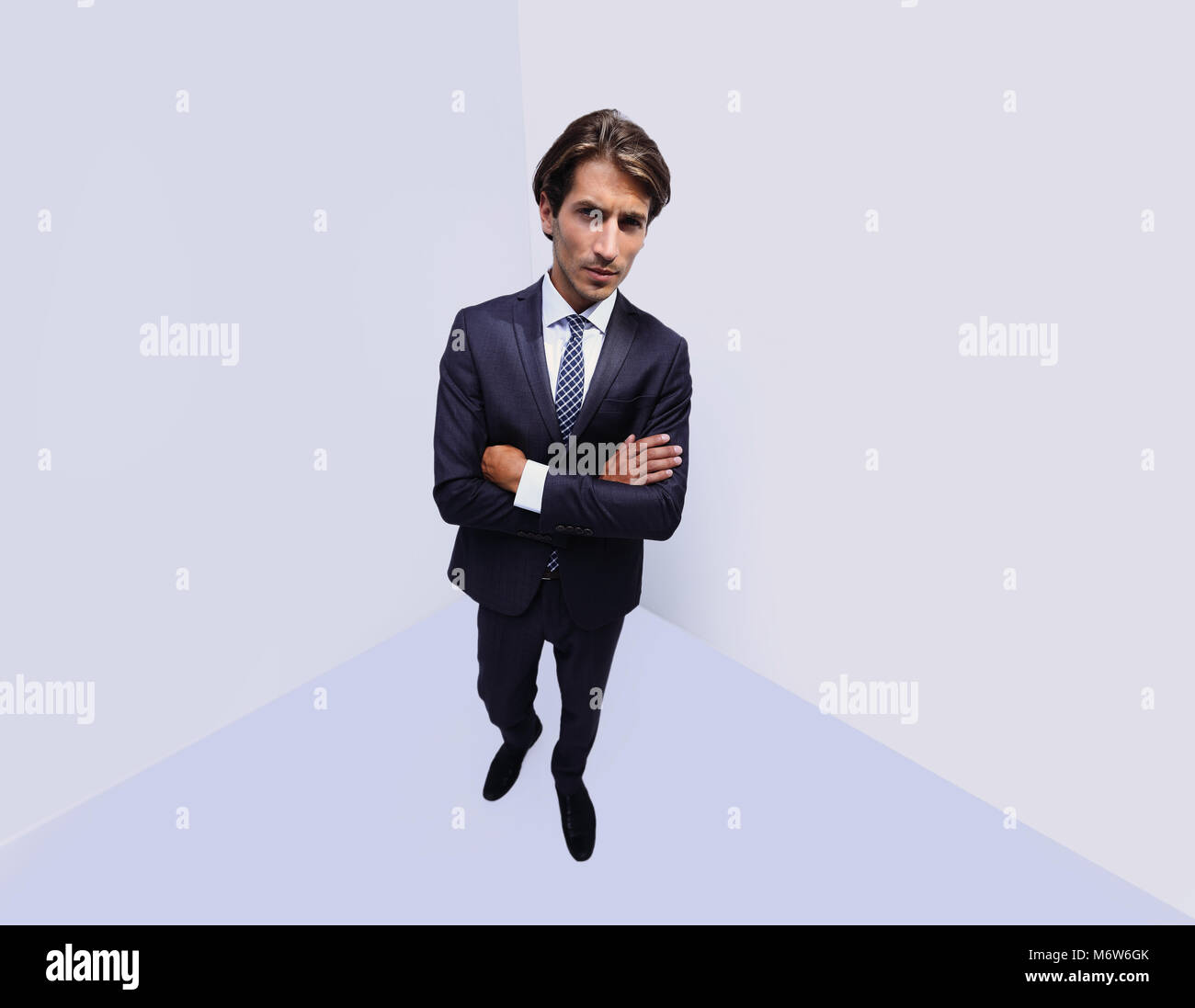 stylized photo of serious businessman - Stock Image