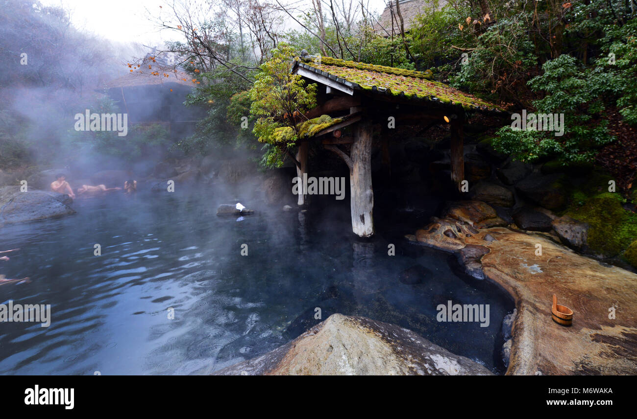 The riverside Yamamizuki Rotenburo ( outdoor hot spring bath ) in ...