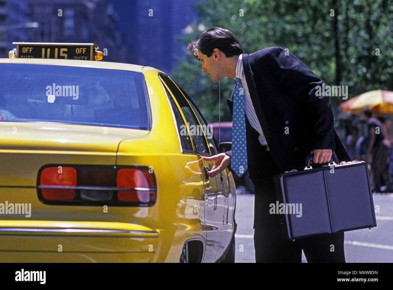 1994 Historical Caucasian Business Man At Door Of Yellow