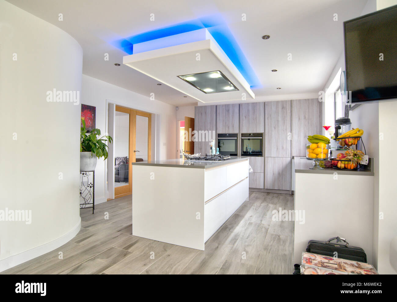 Modern home interior kitchen layout Stock Photo