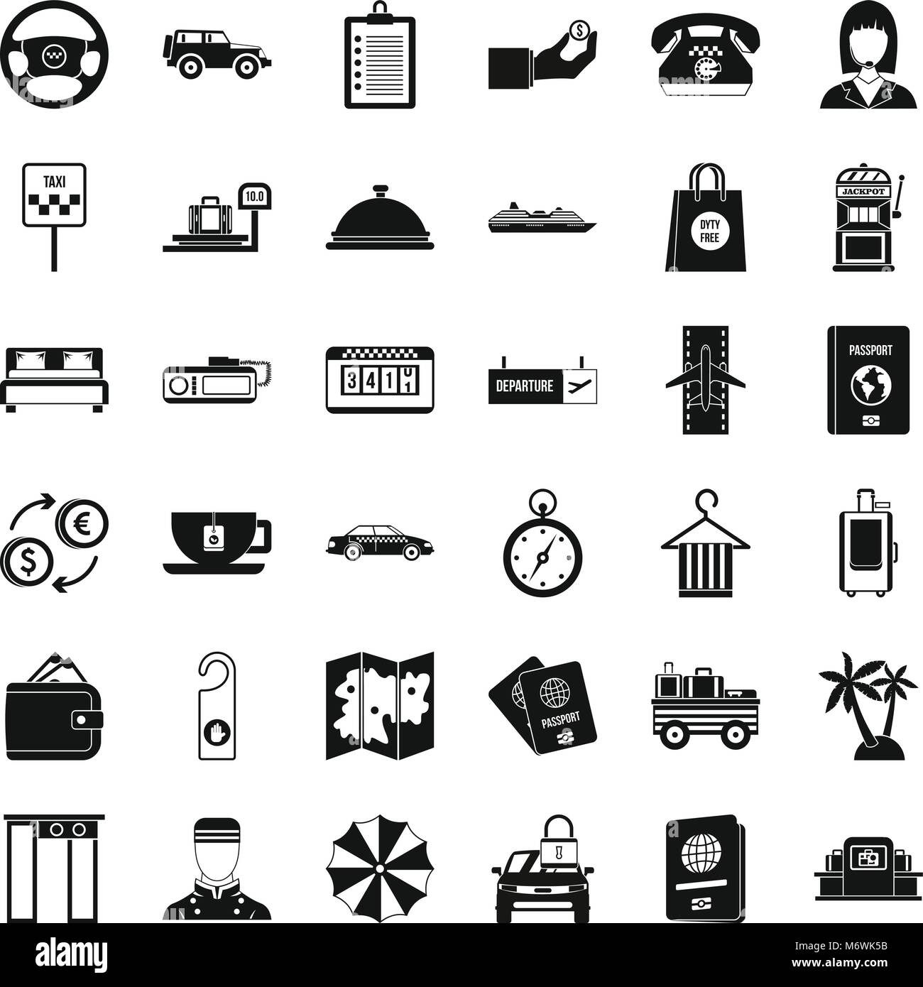 Loot icons set, simple style - Stock Image