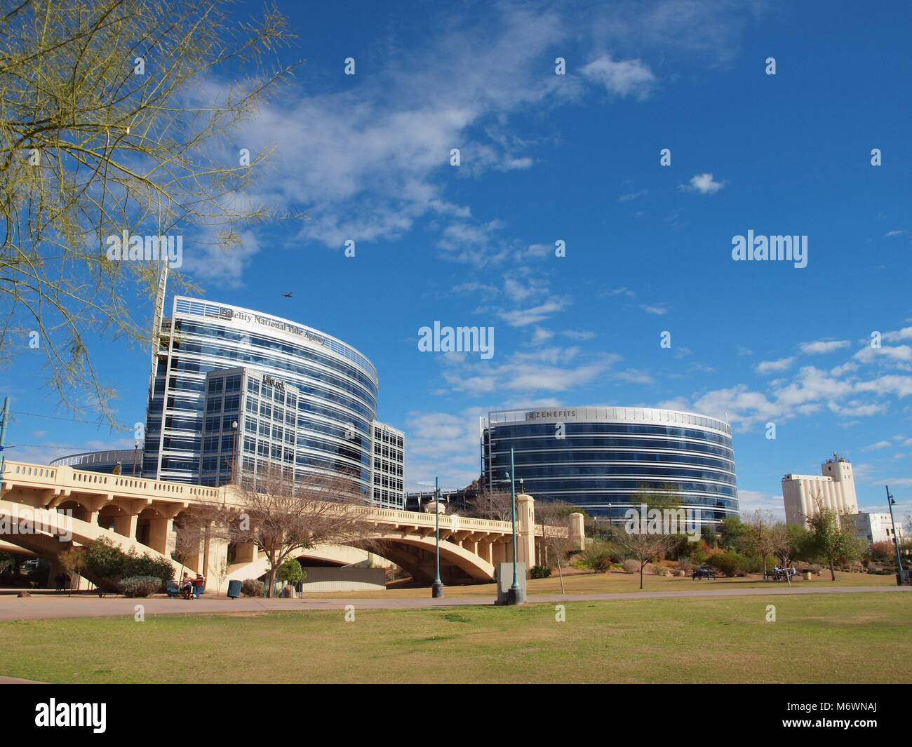 Tempe  Arizona city park known as Tempe Town Lake situated on the Salt River. - Stock Image