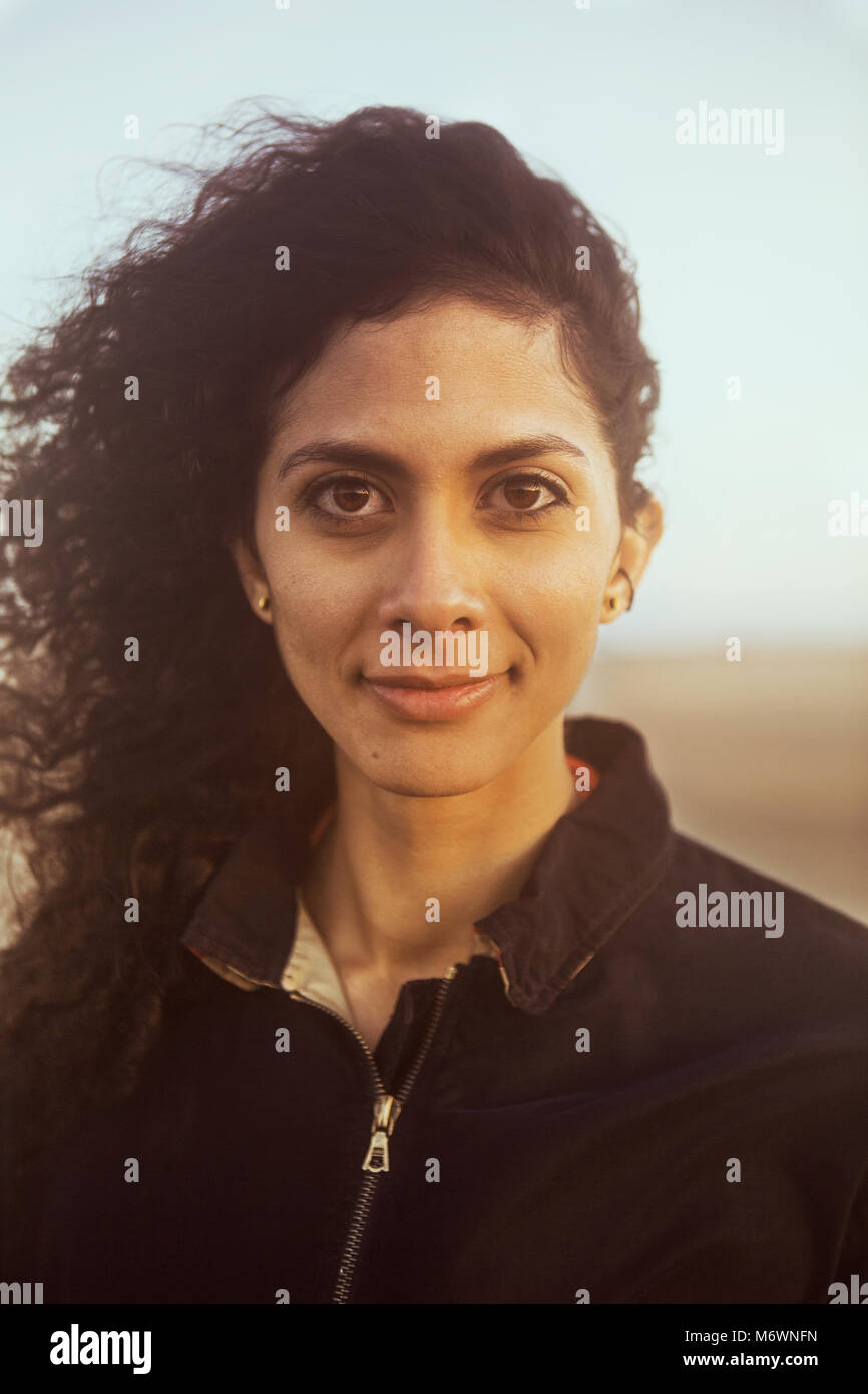 Woman on the Beach - Stock Image