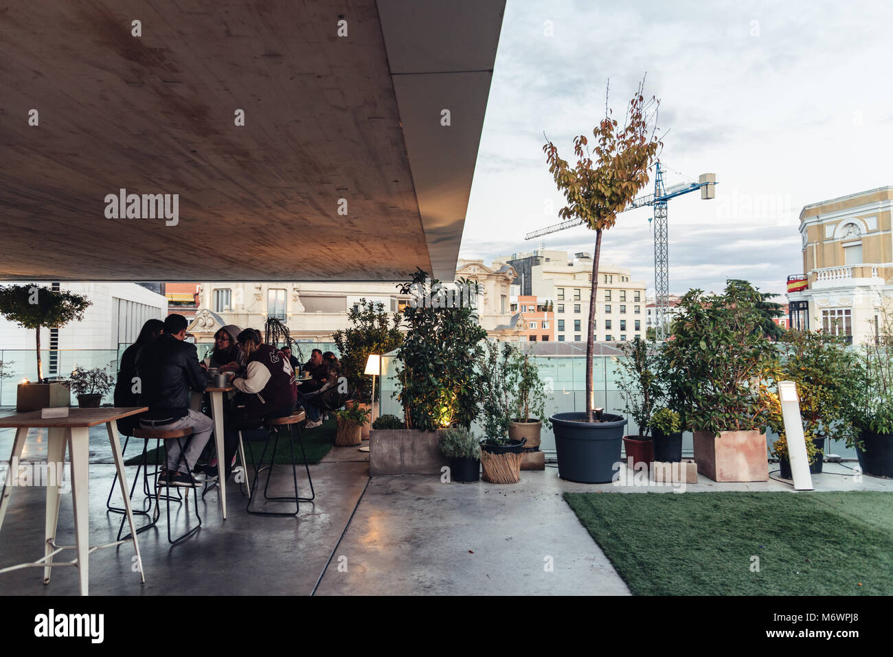 Rooftop terrace garden stock photos rooftop terrace - Garden center madrid ...