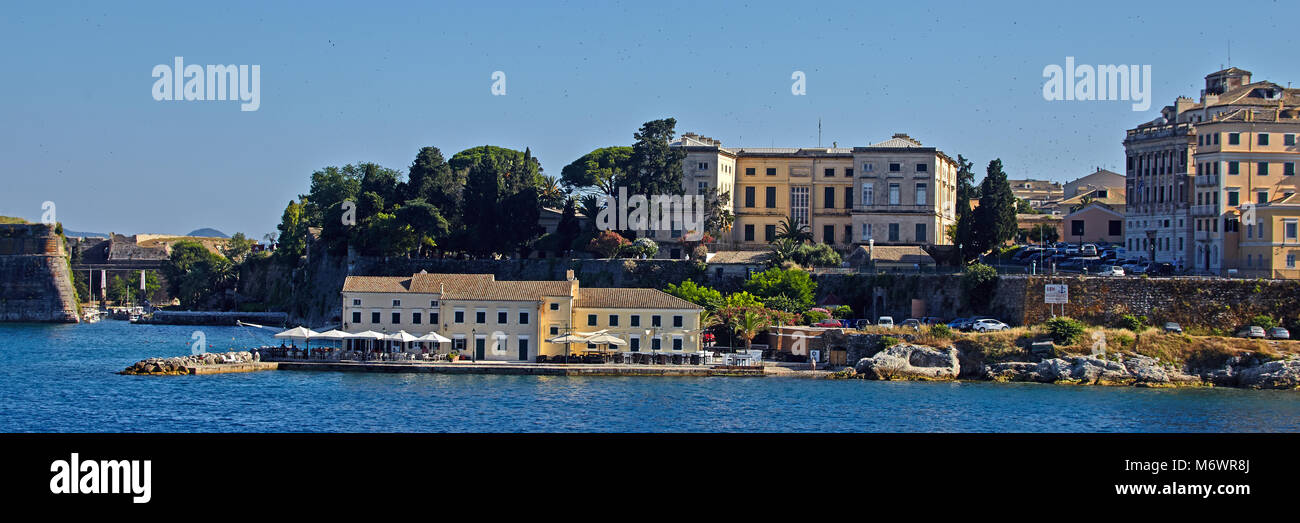 Europe, Greece, Old fort, Corfu, Ionian islands, - Stock Image