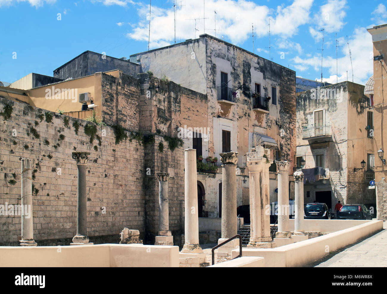 Europe, Italy,Puglia, Bari city, the old town  ,  General view of the remains of the church Saint Mary of Good Counsel - Stock Image