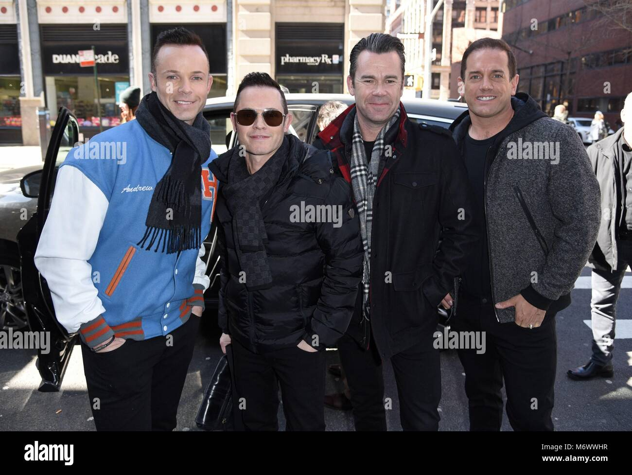 New York, NY, USA. 6th Mar, 2018. Human Nature, Andrew Tierney, Michael Tierney, Phil Burton, Toby Allen, seen at - Stock Image