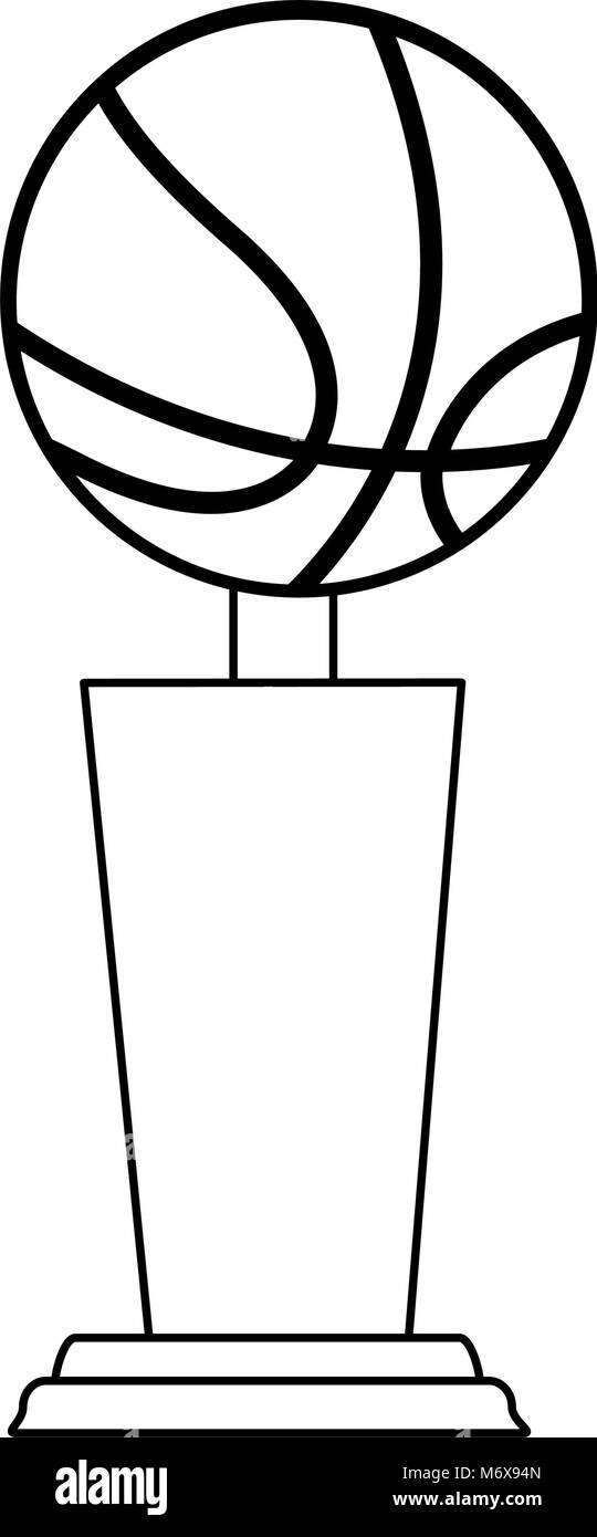 Basketball trophy cup vector illustration graphic design ...