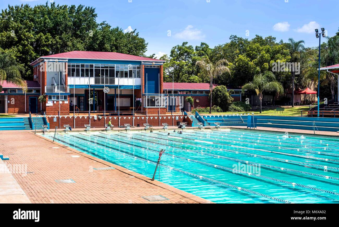 Olympic swimming pool empty stock photos olympic swimming pool empty stock images alamy for Swimming pool covers south africa