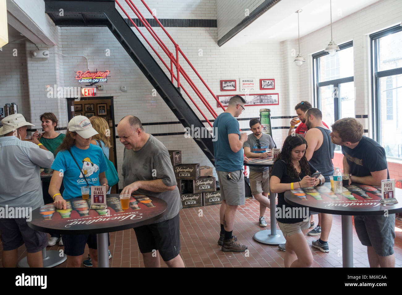 Yuengling brewery factory tour Pottsville, PA - Stock Image