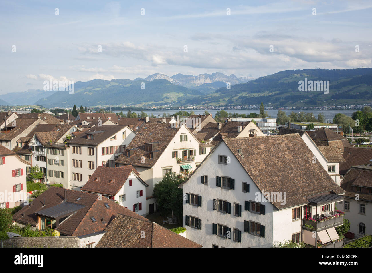 Natural landscape in Switzerland, german part - Stock Image