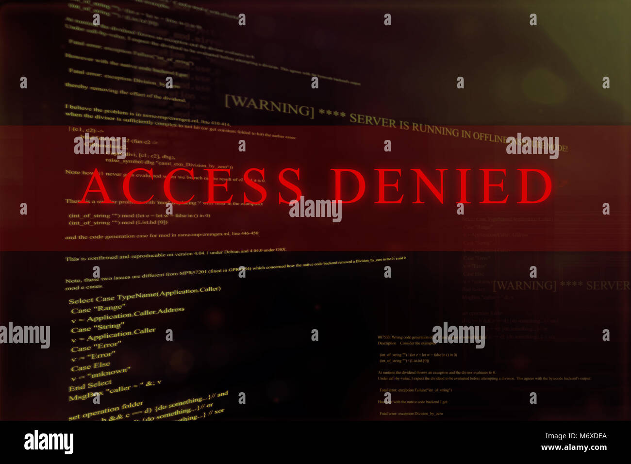 Access denied on a computer system Stock Photo: 176372962