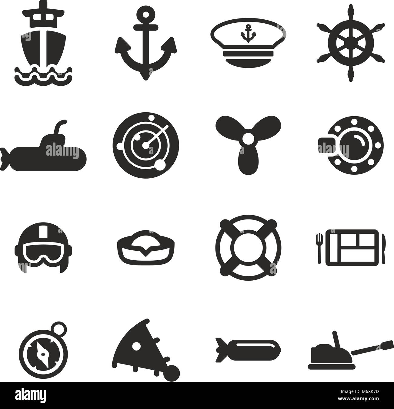Navy Icons - Stock Vector