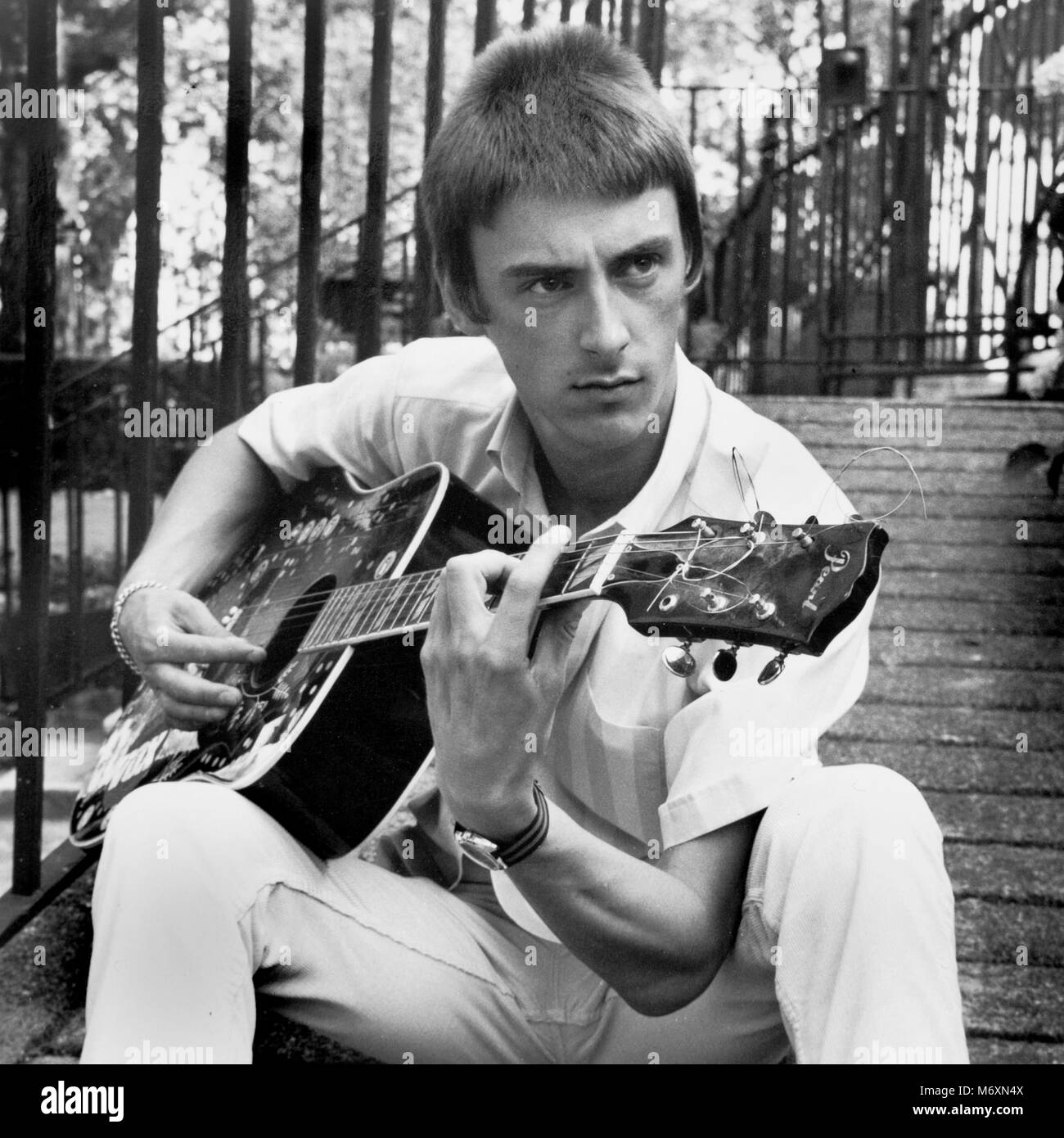 Paul Weller , The Jam, Style council candid portraits Stock