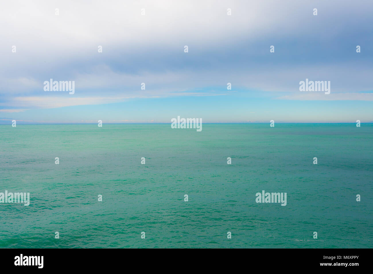 Empty horizon in open sea ocean with pastel color matte finish - Stock Image