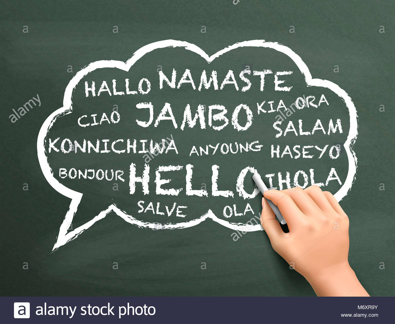 Greeting In Different Language Written Stock Photos Greeting In