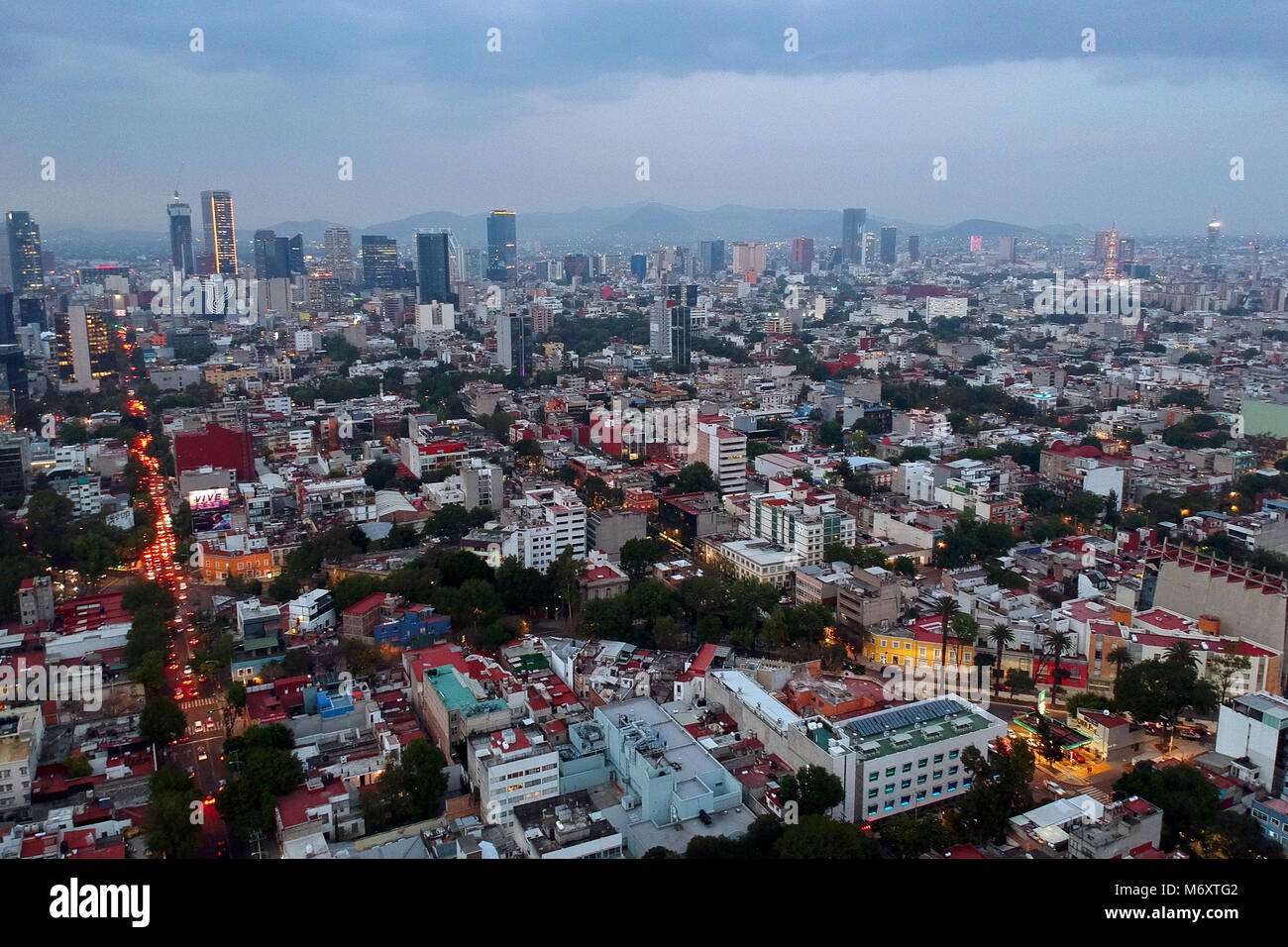 Aerial View Taken With A Drone On The Buildings Houses Condominiums Streets Boulevards And Colonies Of Mexico City Largest In World