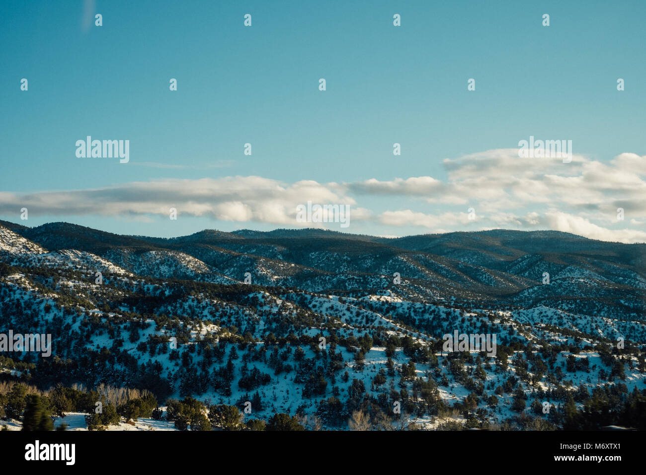 Hills of Santa Fe New Mexico - Stock Image