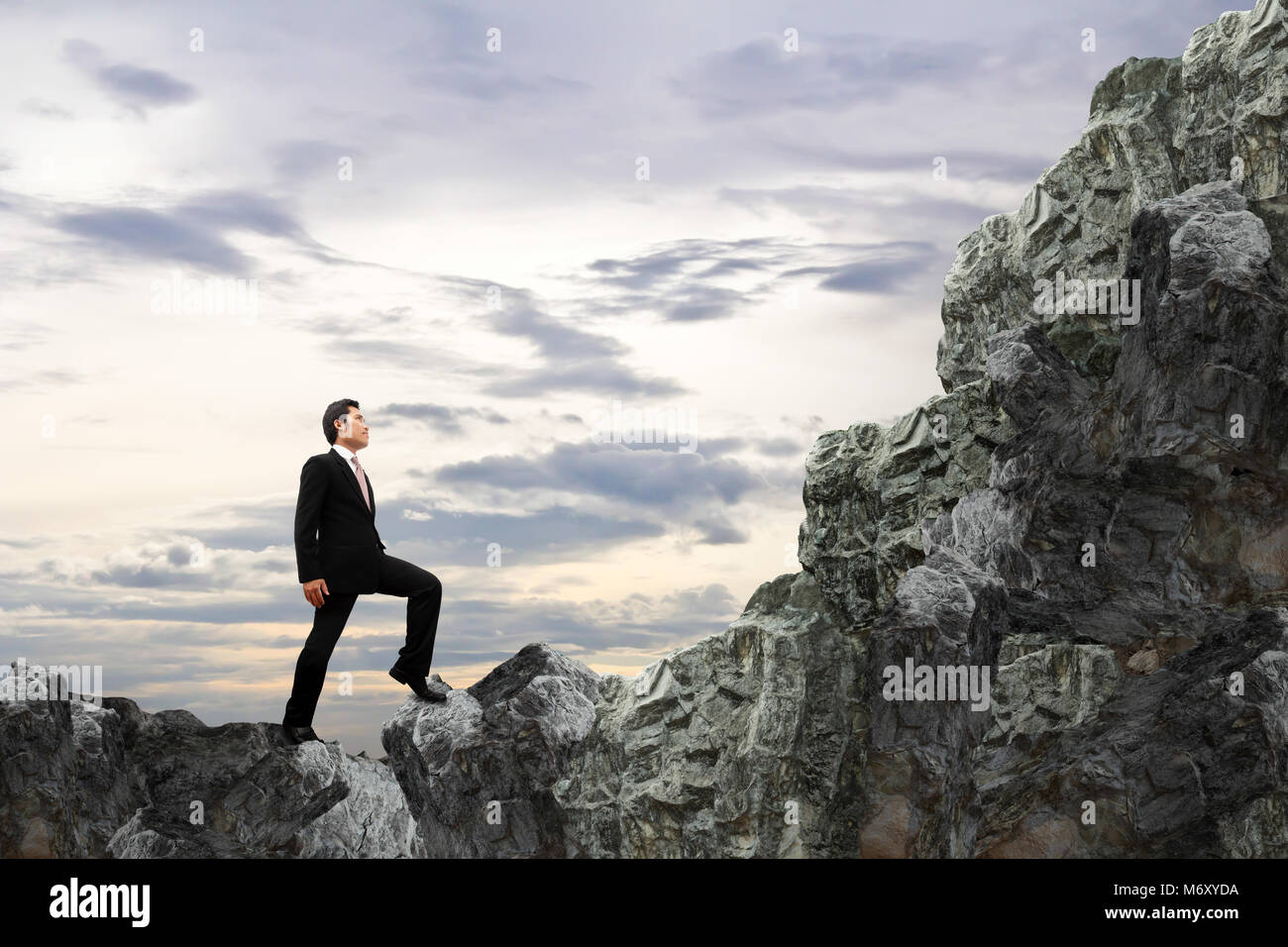 Concept business. Courage of businessman. - Stock Image
