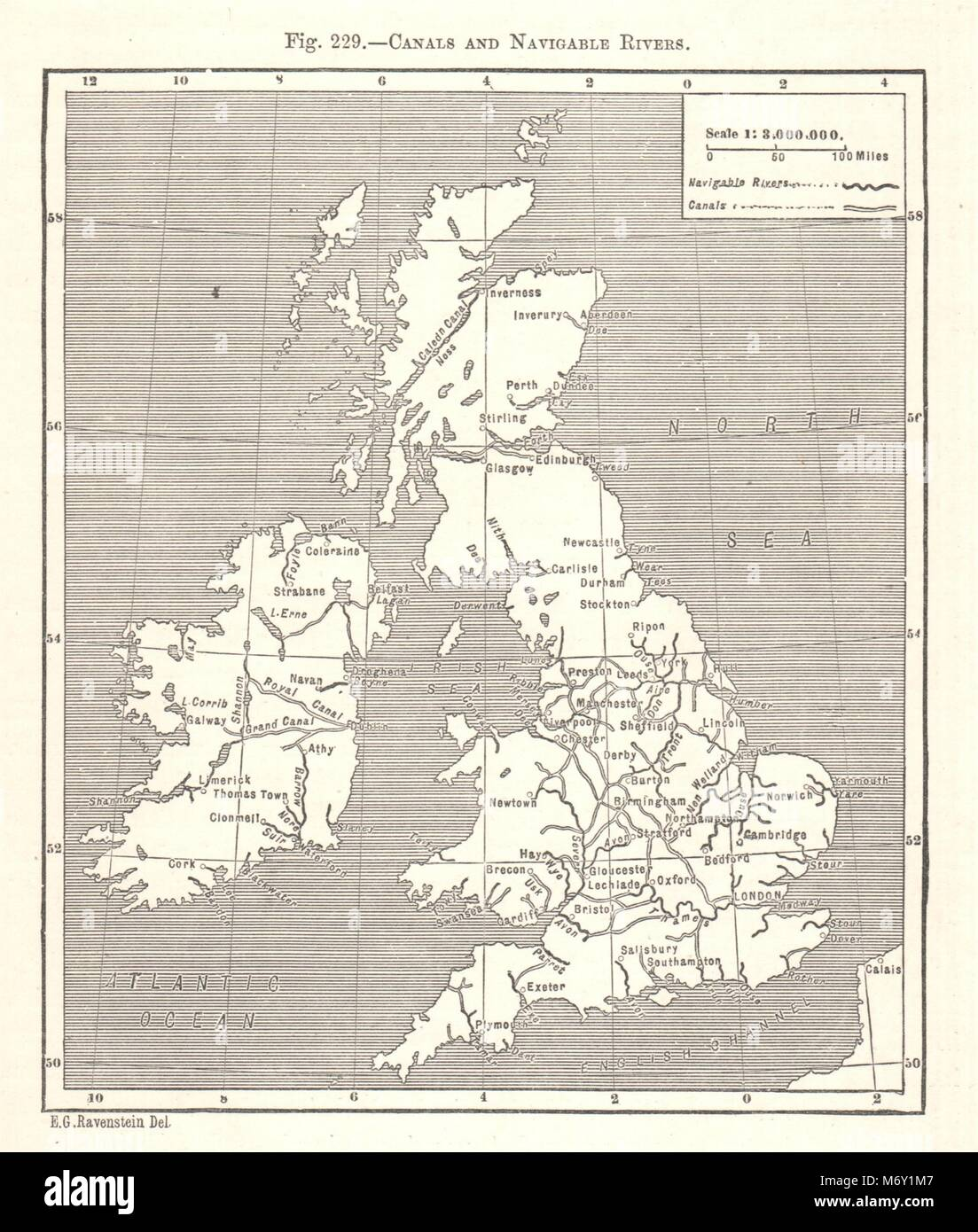 Map Of England Rivers And Canals.British Rivers Map Stock Photos British Rivers Map Stock Images