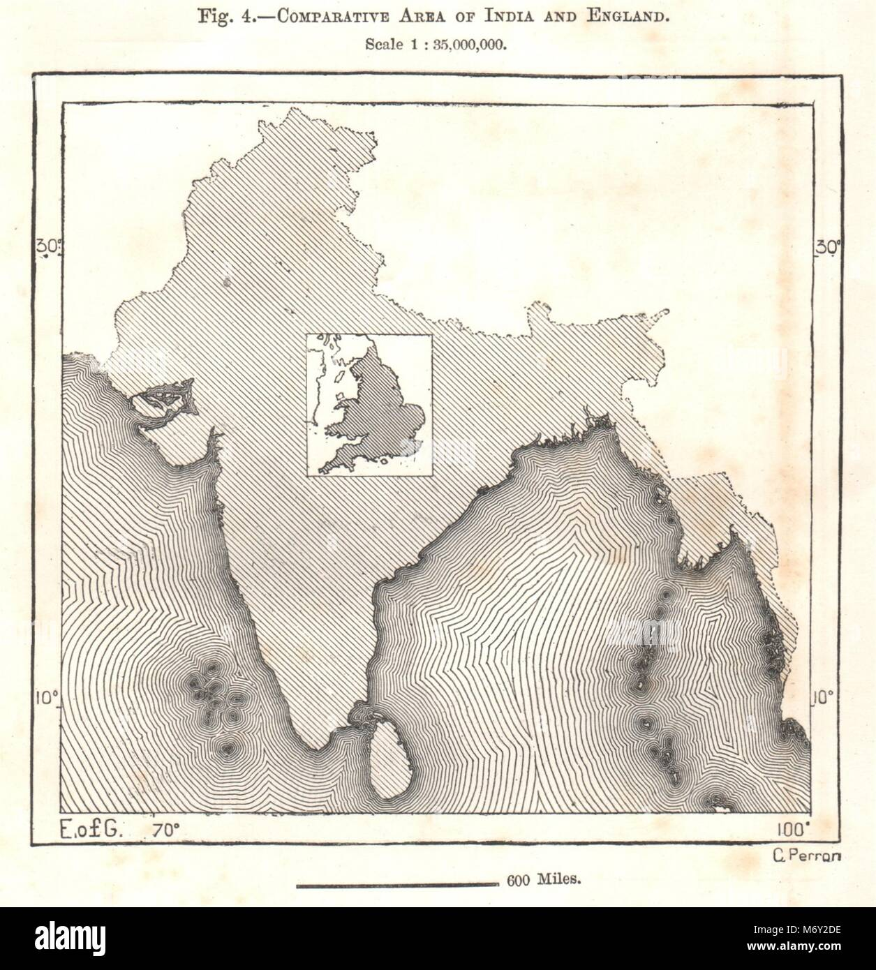 India england stock photos india england stock images alamy comparative area of india and england sketch map 1885 old antique chart stock image gumiabroncs Image collections