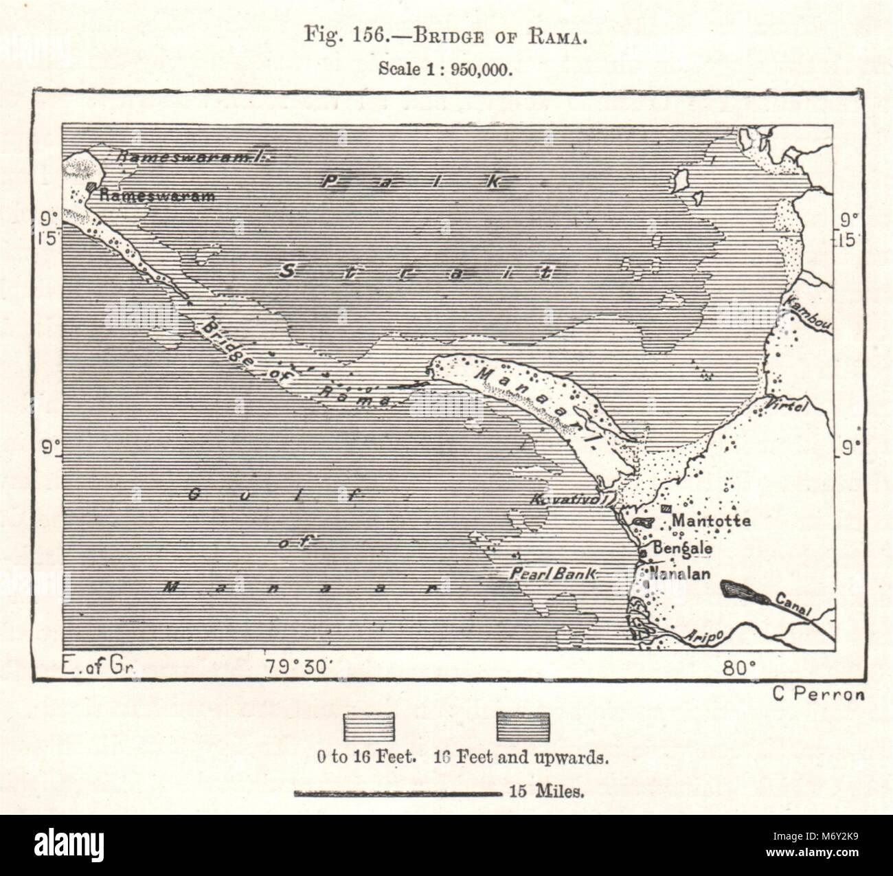 Colombo SRI LANKA sketch map c1885 old antique vintage plan chart