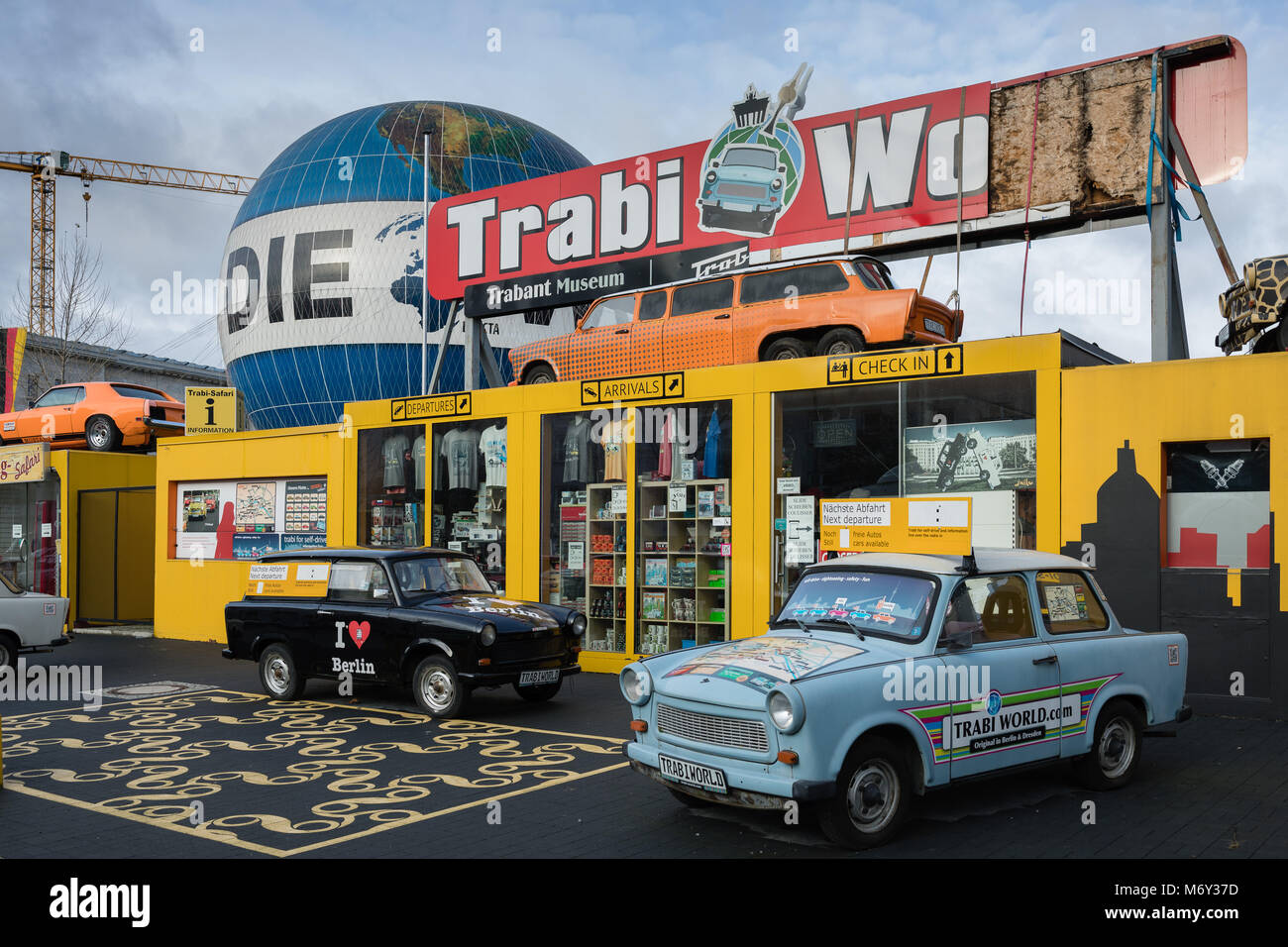 Trabant World, Zimmerstrasse, Mitte, Berlin, Germany - Stock Image
