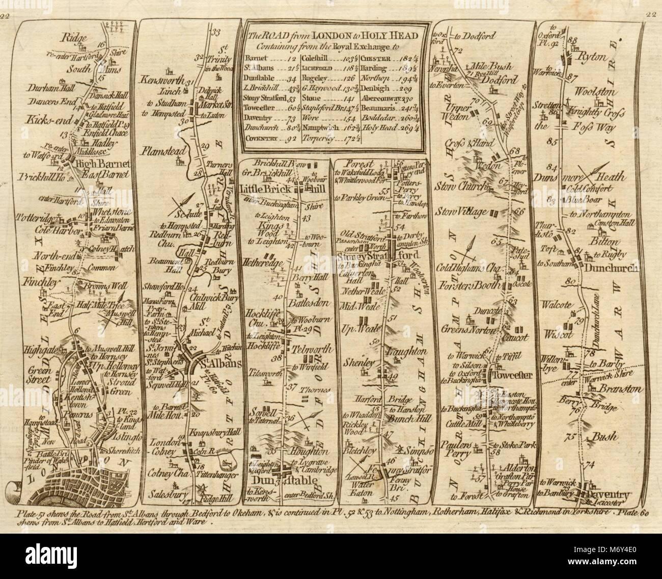 Symbol Of The Brand Llanbadarn Fynydd Llanbister Llandewi Brecon Cardiff Antiques Maps, Atlases & Globes Kitchin Road Map 1767