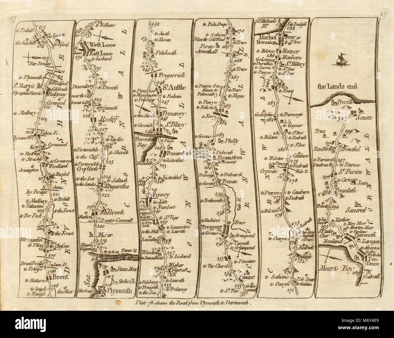 Kitchin Road Map 1767 Maps, Atlases & Globes Symbol Of The Brand Llanbadarn Fynydd Llanbister Llandewi Brecon Cardiff