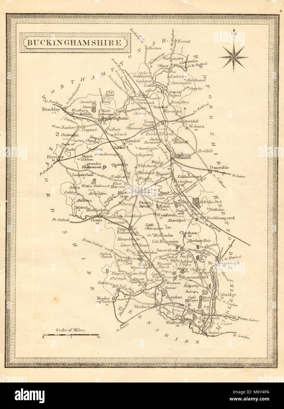 Antique County Map Of Buckinghamshire By John Cary 1787 Old Chart Reasonable Price Maps, Atlases & Globes