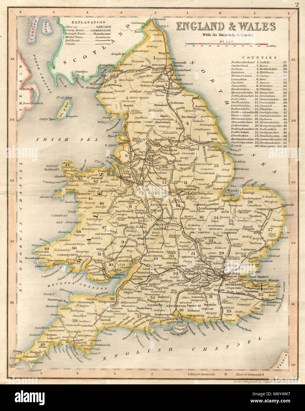 England wales with its railrods canals by archer dugdale 1845 england wales with its railrods canals by archer dugdale 1845 old map gumiabroncs Gallery