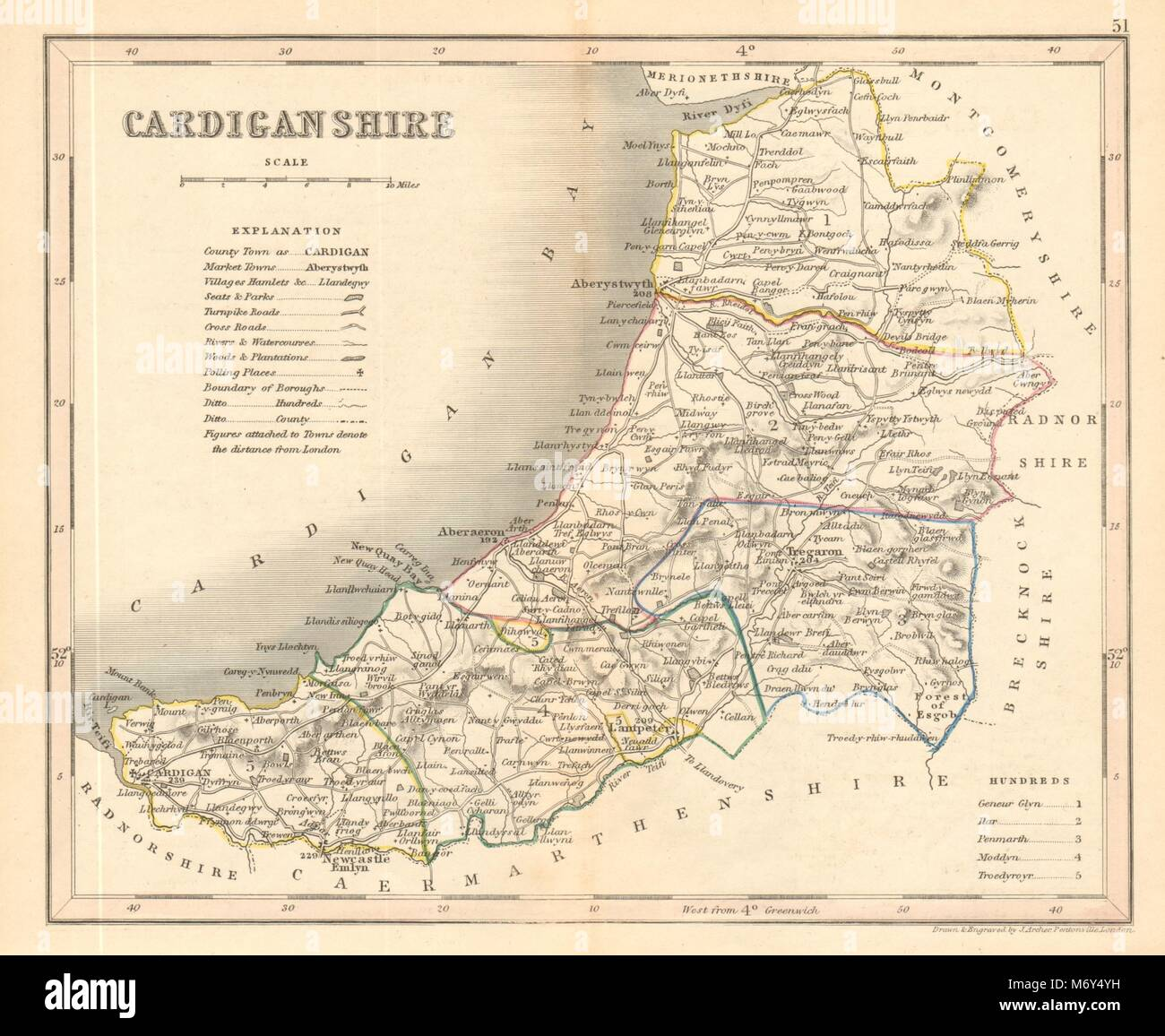 Seats Canals Polling Places 1845 Bedfordshire County Map By Archer & Dugdale Art Prints