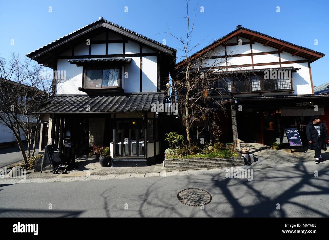 Beautiful Japanese houses on Yunotsubo Kaidō street in Yufu. - Stock Image & Japanese Houses Stock Photos \u0026 Japanese Houses Stock Images - Alamy