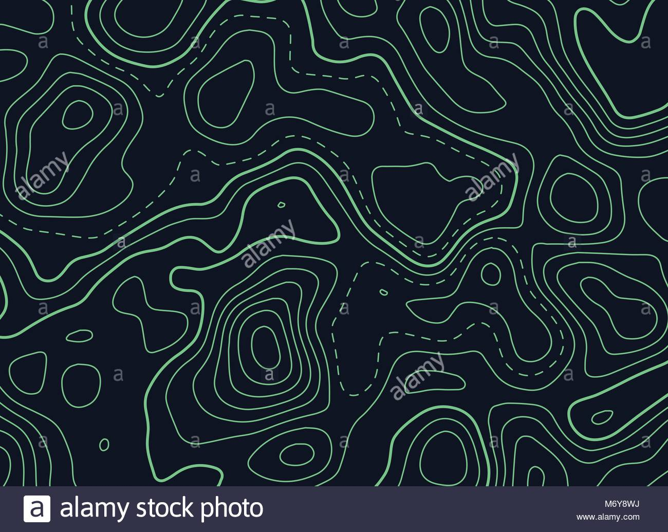 Contour Line Drawing Map : Dark background with green topographic contour map stock vector