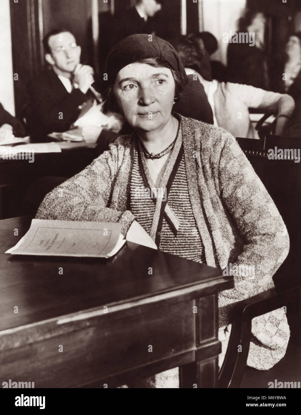 Margaret Sanger (1879-1966), Chairman of the National Committee on Federal Legislation for Birth Control, on the - Stock Image