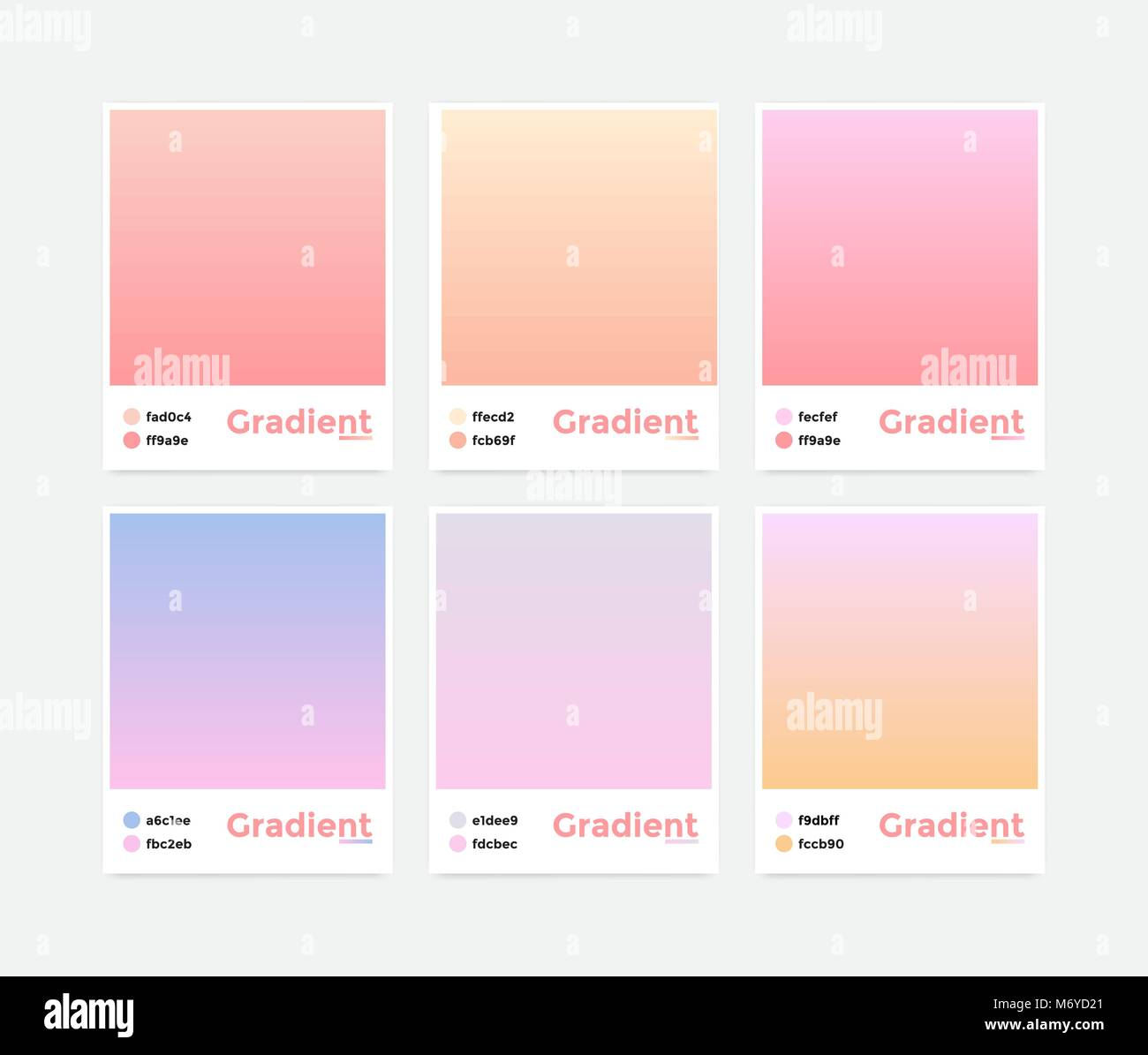 Universal set vector modern gradient - Stock Image