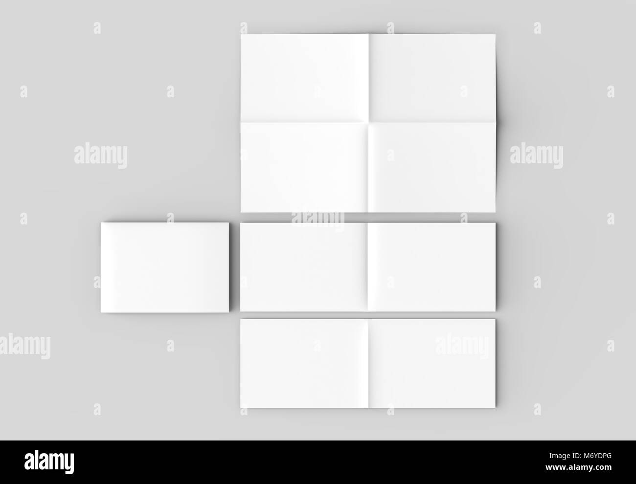 8 page leaflet french fold right angle horizontal landscape